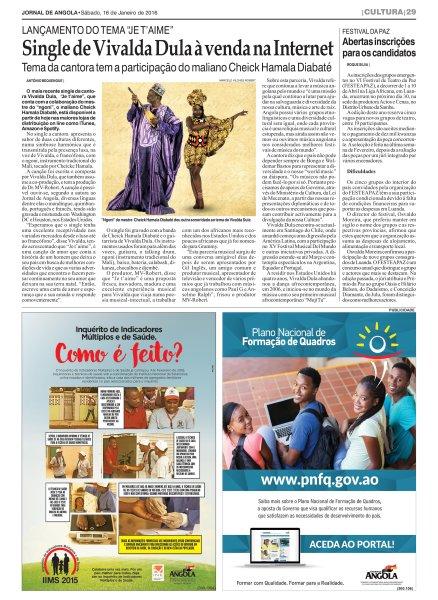 Je t´aime by Vivalda Dula and Cheick Hamala Diabaté is Released