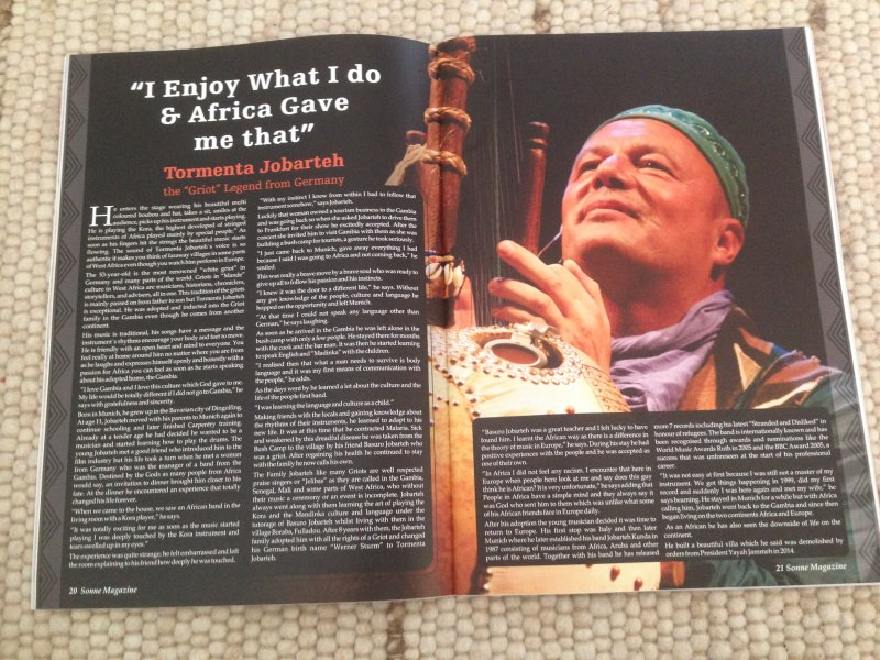 Interview Sonne Magazine T.Jobarteh