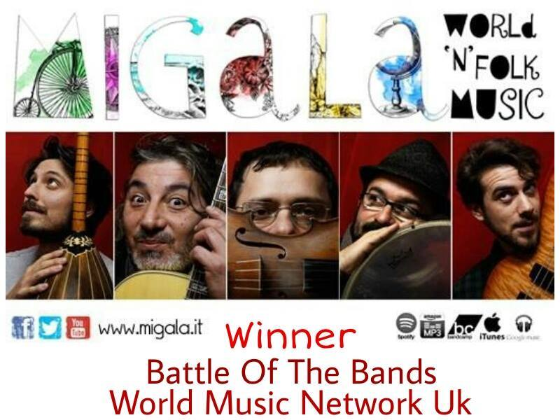 Progetto Migala wins The Battle Of The Bands by World Music Network Uk