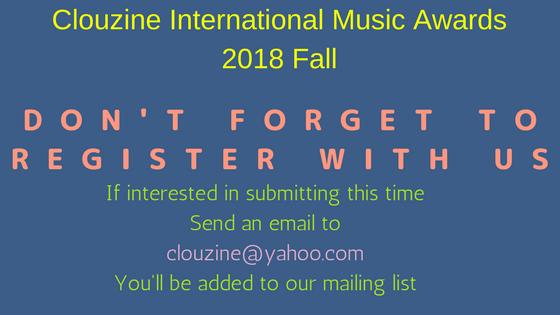 CLOUZINE INTERNATIONAL MUSIC AWARDS Fall 2018