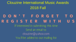 CLOUZINE INTERNATIONAL MUSIC AWARDS Fall 2018