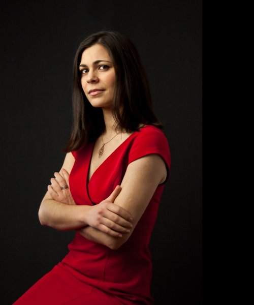 Suzi Silva in Red