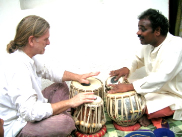 Pt Sharanappa Guttargi and Marcus Corbett