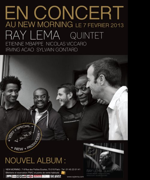 RAY LEMA QUINTET POSTER by RAY LEMA