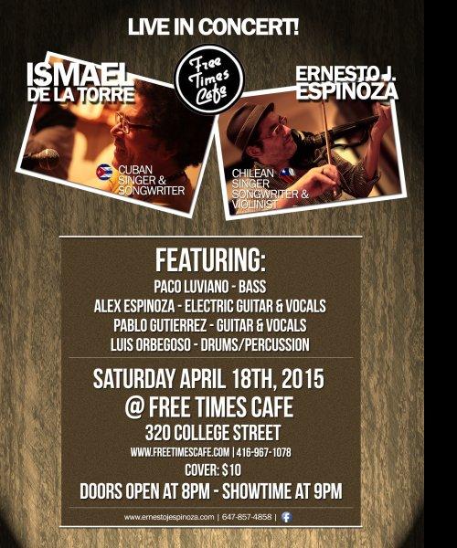 Live in concert! Ismael De La Torre & Ernesto J. Espinoza