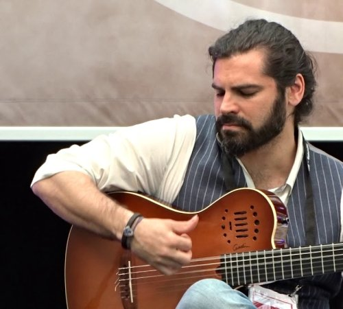 Luis Gallo at Musikmesse in Frankfurt, Germany. by World Fusion Events