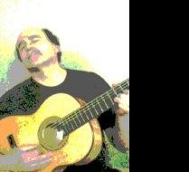 Composer Phillip Kane Enjoying Guitar-Farmington, Me.-12/10