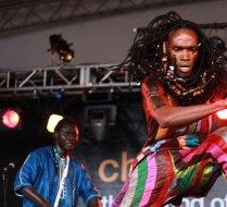 Batch Gueye dance solo at concert