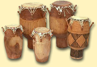 Akan Drums - Adowa Set of 6 Drums by Integrated Music Company Limited