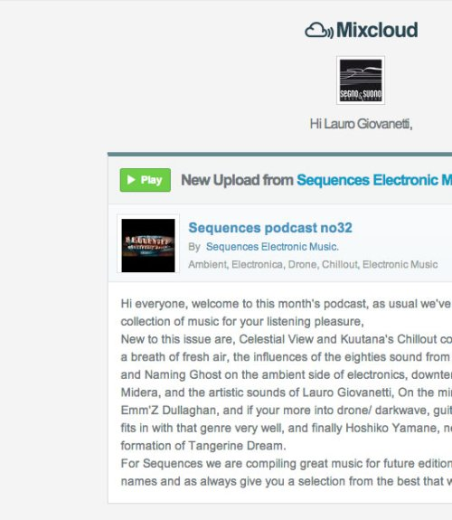 Sequences Electronic Music Podcast No32 by Segnoesuono