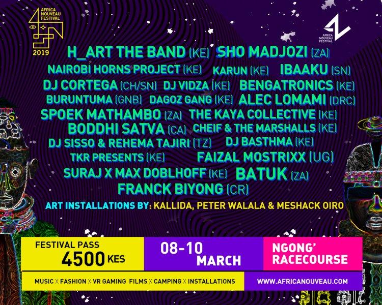 AFRICA NOUVEAU 2019 FESTIVAL LIne UP