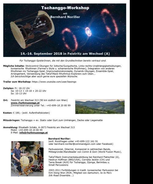 Tschanggo-Workshop mit Bernhard Noriller (14.-16. Sept. 2018) by Comin & Goin