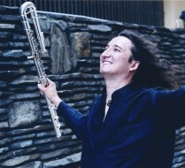 Ron Korb with bass flute