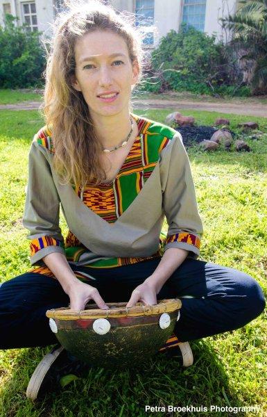 Charlotte Juma on Kalimba