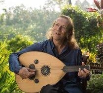 Anello in his garden in Bali