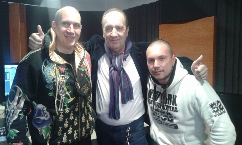Sven Gleđa,Mladen Grdović i Mario Rucner studio session