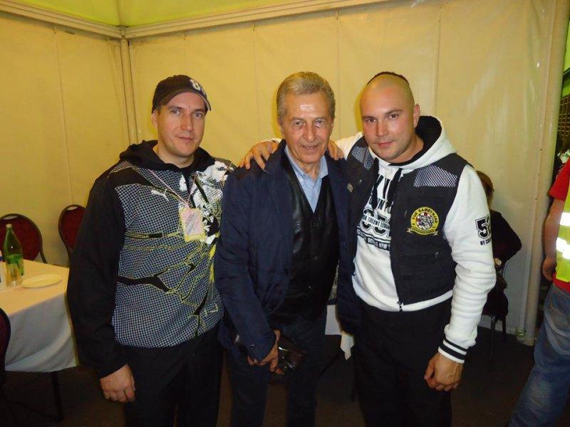 Sven Gleđa,Miroslav Ilić i Mario Rucner (backstage Zelina 2015)