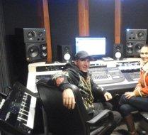 Sven Gleđa i Ivana Banfić recording session