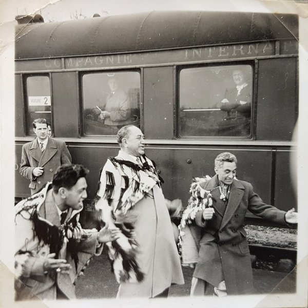 my father Rangi performing Maori fusion in Europe 1955