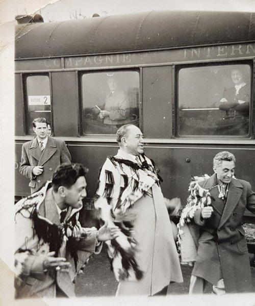 my father Rangi performing Maori fusion in Europe 1955 by RiQi Harawira
