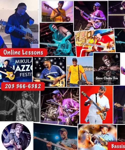 Music/Bass Lessons Online by Steve Clarke Trio