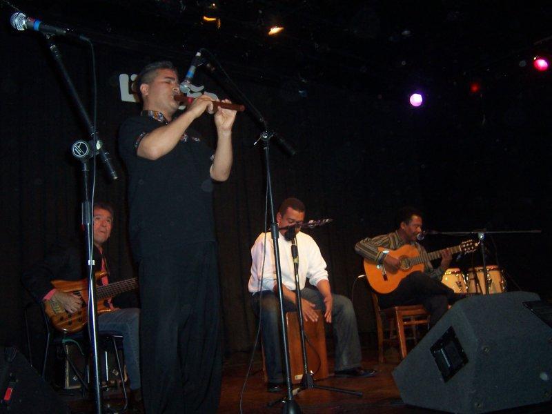 con el maestro Coco Linares en La Peña