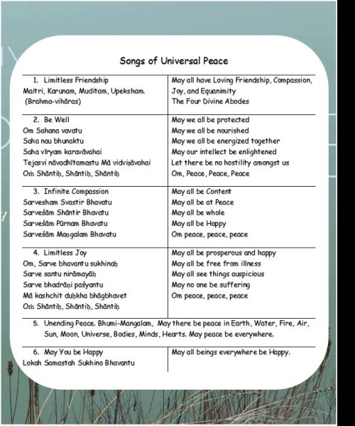 Songs of Universal Peace