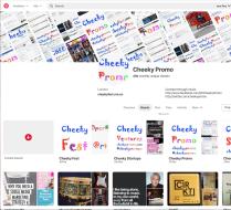 Cheeky Promo Pinterest