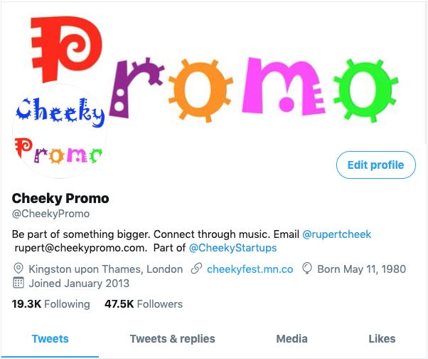 @CheekyPromo on Twitter