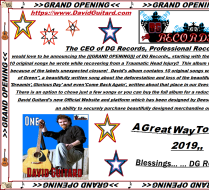 GRAND OPENING & Start of Operations for DG Records!